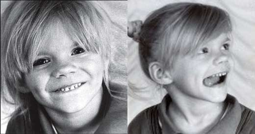 Юлия Ефимова в детстве