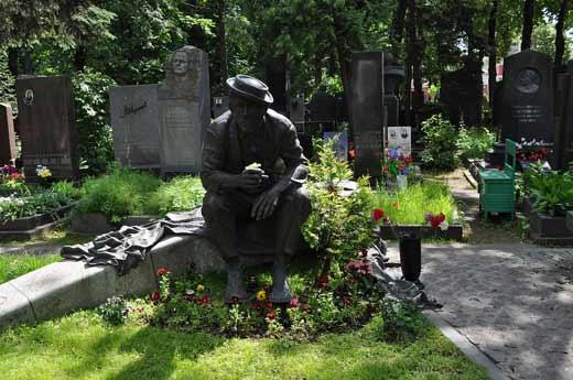 Памятник Никулину Новодевичье кладбище