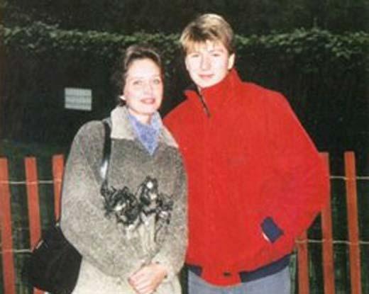 Алексей Ягудин и мама Зоя Алексеевна