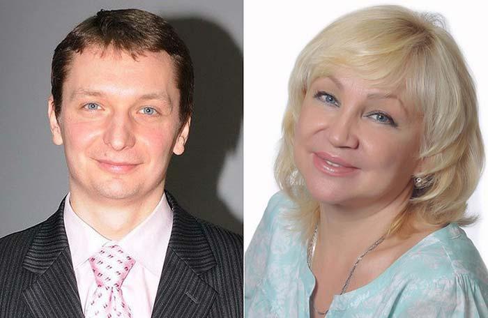 Ирина Померанцева и сын Алексей