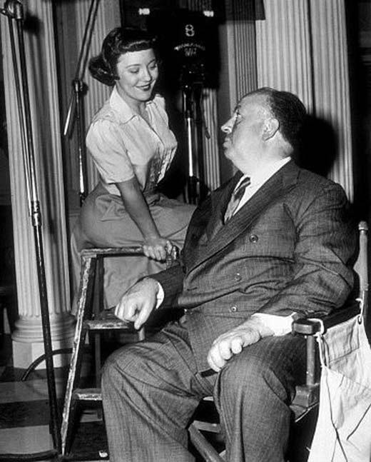 Альфред Хичкок и дочь Патрисия