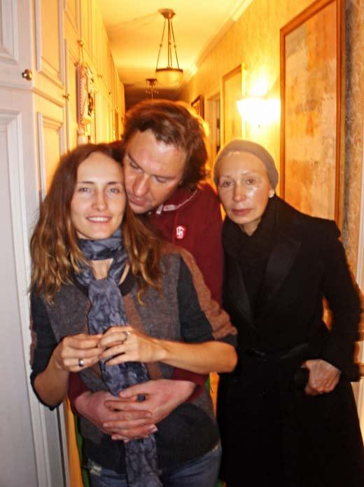 Анастасия Бегунова с Филиппом Васильевым и Татьяной Васильевой