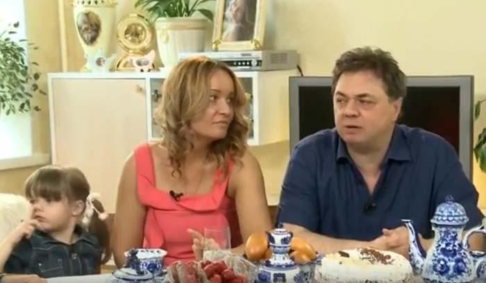 Андрей Леонов и жена Анастасия