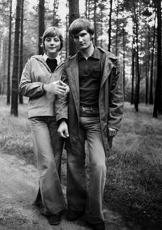 Ангела Меркель и первый муж Ульрих Меркель
