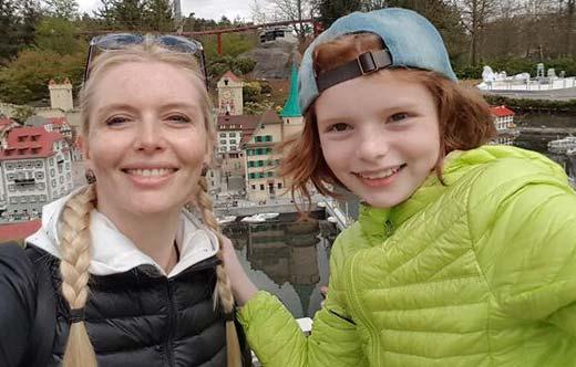 Анна Чурина и дочь Ксения