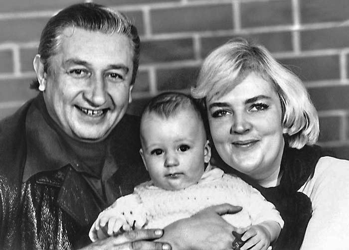 Борис Владимиров и Татьяна Державина с сыном
