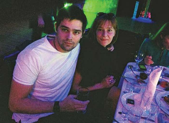 Елена Дробышева и сын Филипп