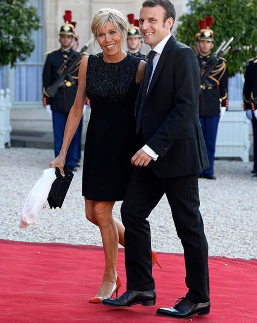 Эммануэль Макрон с женой Бриджит 2