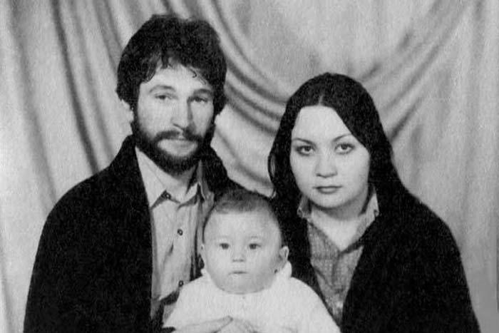 Игорь Тальков с женой Татьяной и сыном