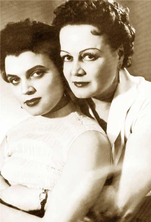 Татьяна Окуневская и дочь Инга