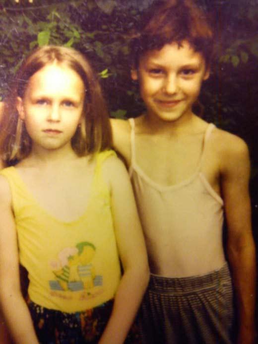 Ирина Горбачёва в детстве с братом-двойняшкой Игорем