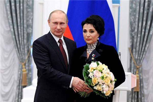Ирина Винер и Владимир Путин