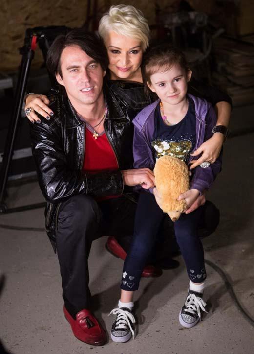 Катя Лель с мужем и дочерью