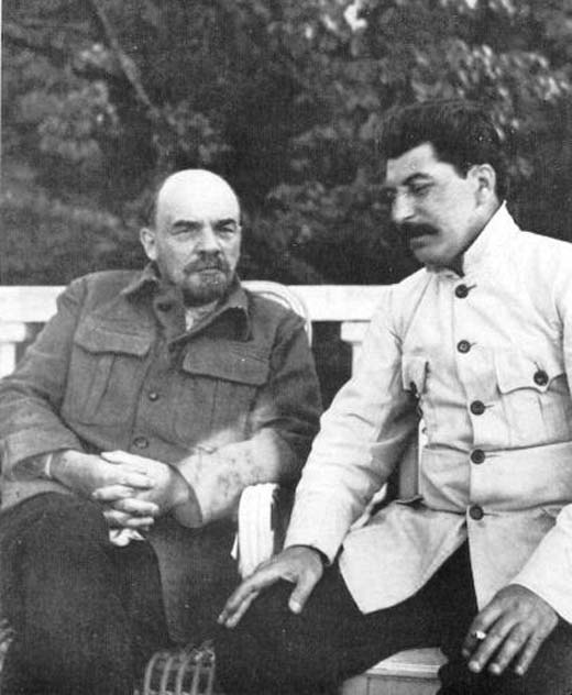 Владимир Ленин и Иосиф Сталин