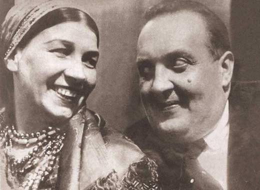 Лидия Русланова и Михаил Гаркави
