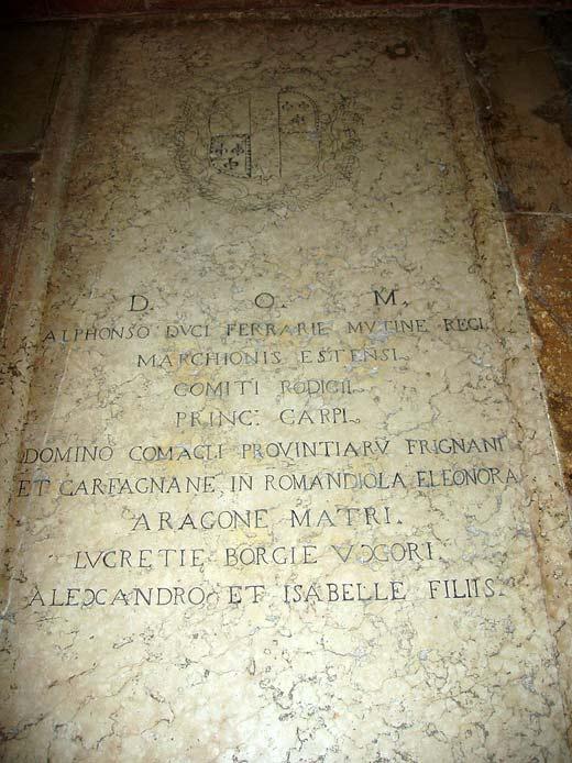 могила Лукреции Борджиа