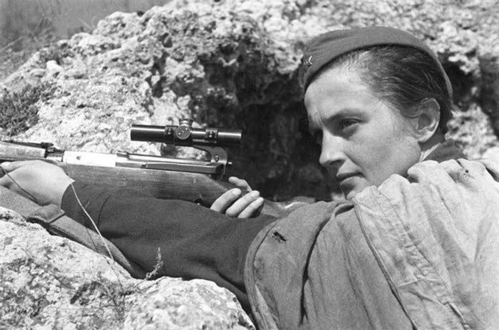 Людмила Павличенко на фронте 2