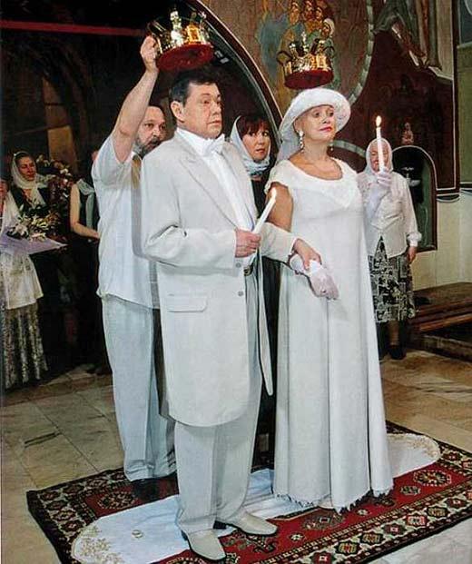венчание Людмилы Поргиной и Николая Караченцова