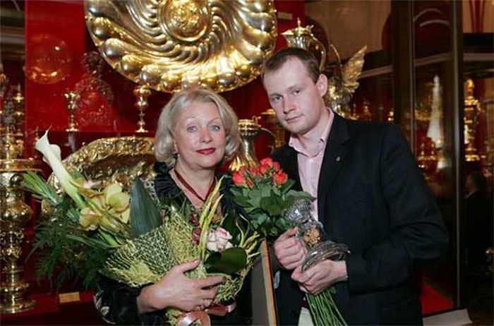 Людмила Поргина и сын Андрей Караченцов