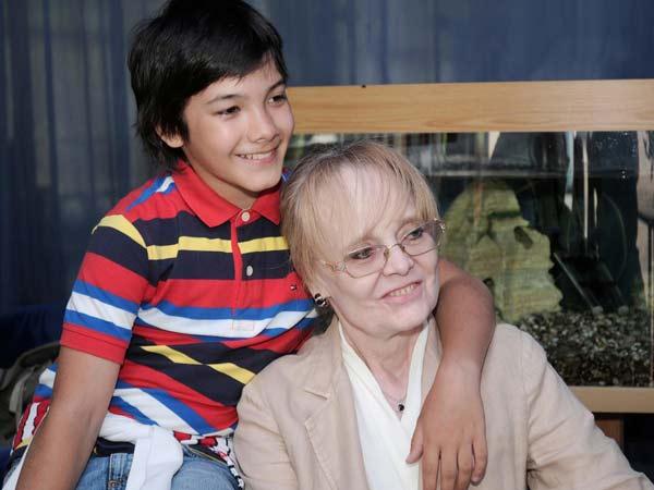 Наталья Белохвостикова и сын Кирилл