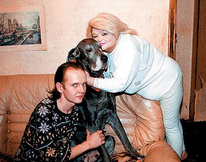 Наталья Кустинская с сыном Дмитрием