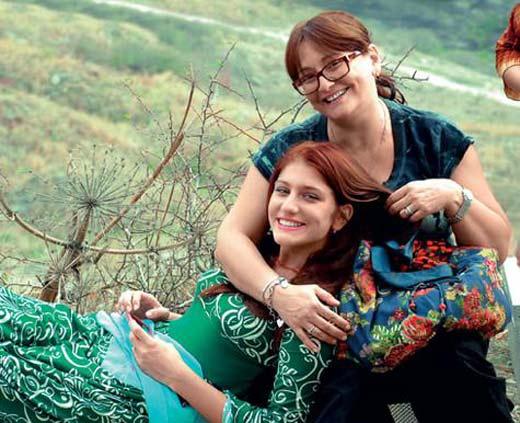 Нино Нинидзе с мамой Ией Нинидзе
