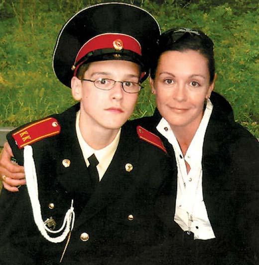 Данила Воропаев и мать Оксана Базилевич