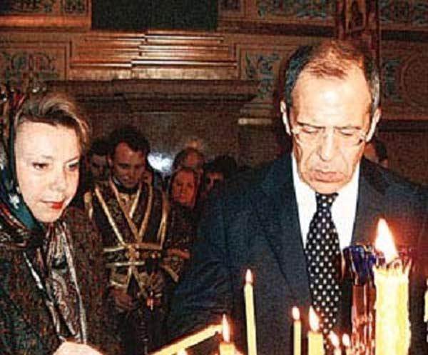 Сергей Лавров с женой Марией