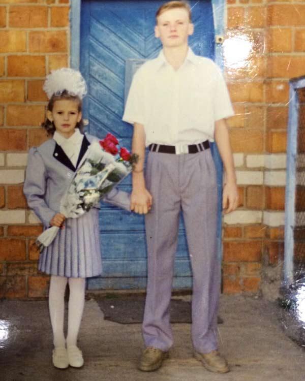 Татьяна Ермилова в детстве с братом