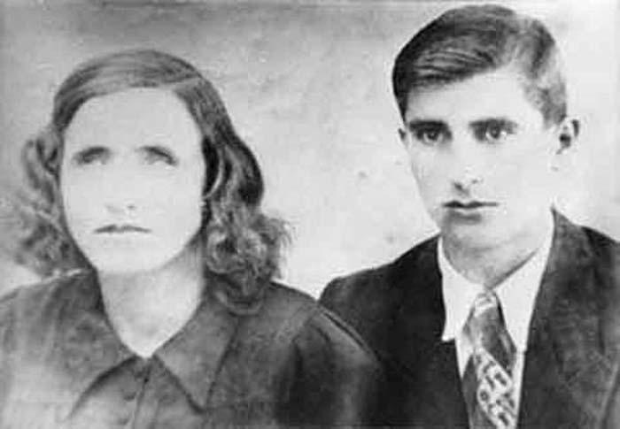 Ванга и муж Димитр Гуштеров