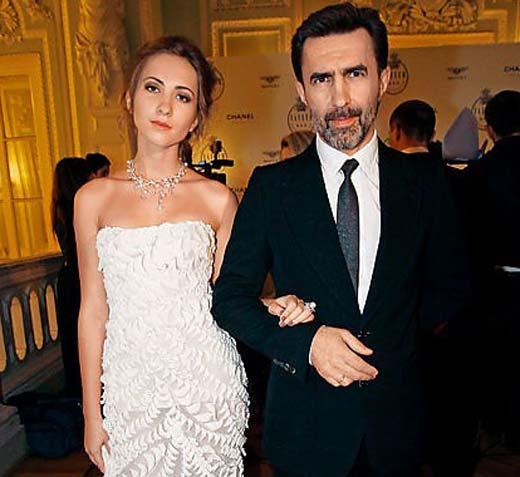 Вячеслав Бутусов и дочь Ксения