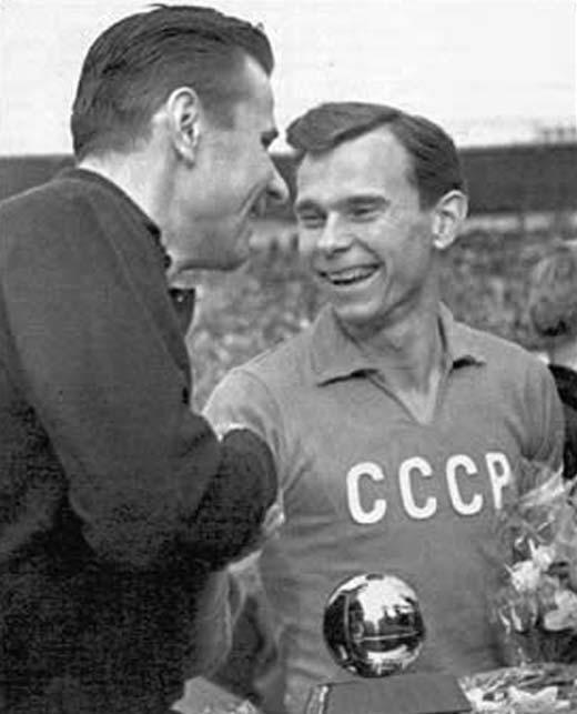 Валентин Иванов и Лев Яшин