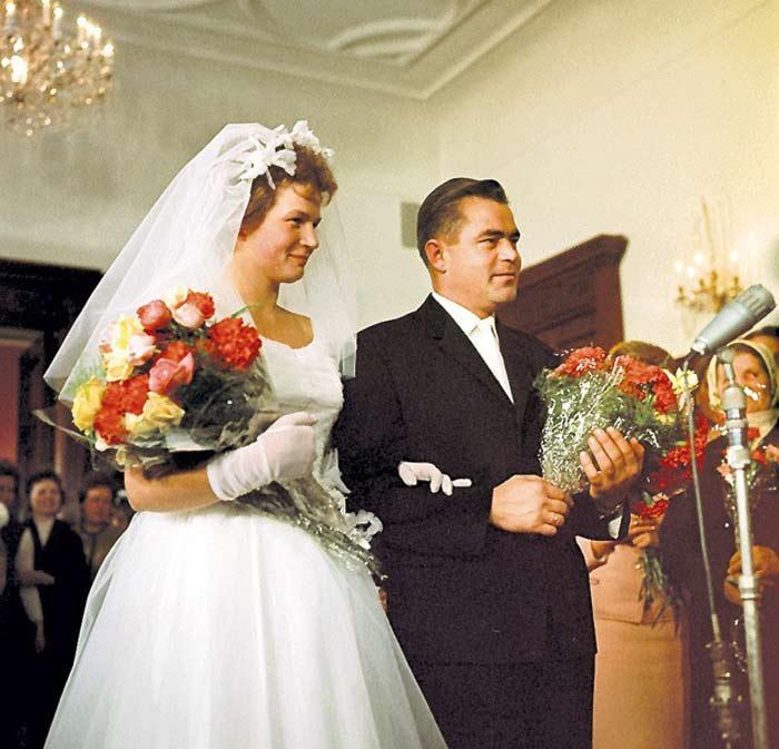 Валентина Терешкова и Андриян Николаев