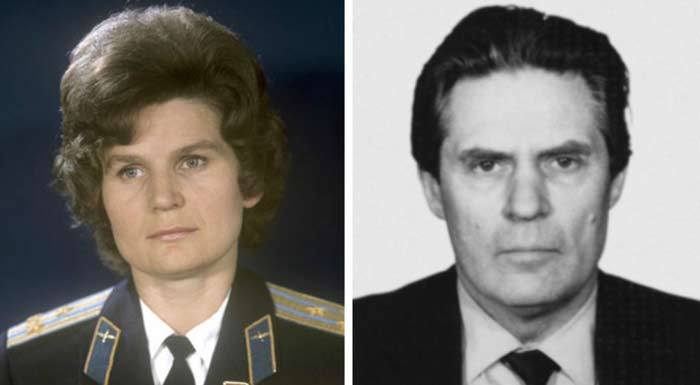 Валентина Терешкова и Юлий Шапошников