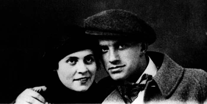 Лиля Брик и Владимир Маяковский