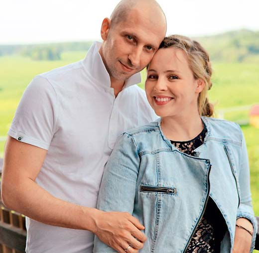 Яна Гурьянова и муж Александр