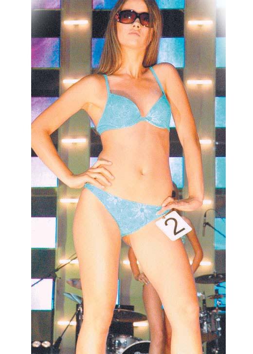 Юлия Паршута на конкурсе красоты