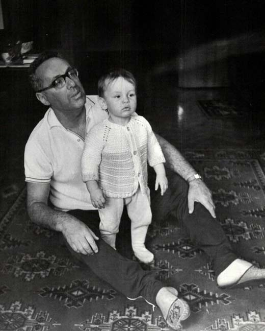 Юрий Левитан и внук Борис