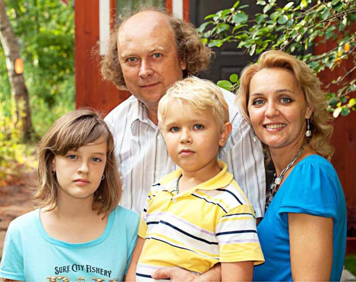 Алексей Войтюк и Татьяна Проценко с детьми
