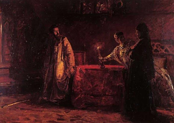 Борис Годунов и инокиня Марфа
