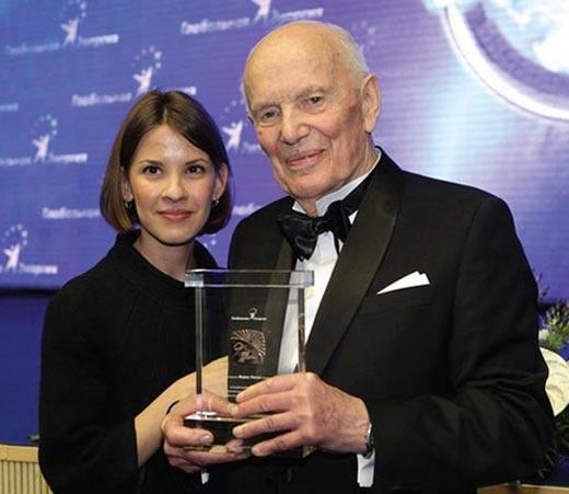 Борис Патон и внучка Ольга