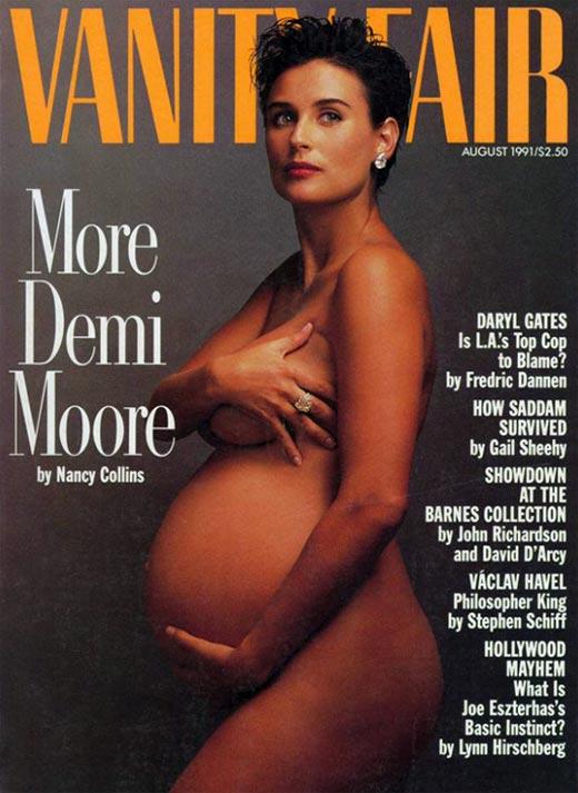 Беременная Деми Мур