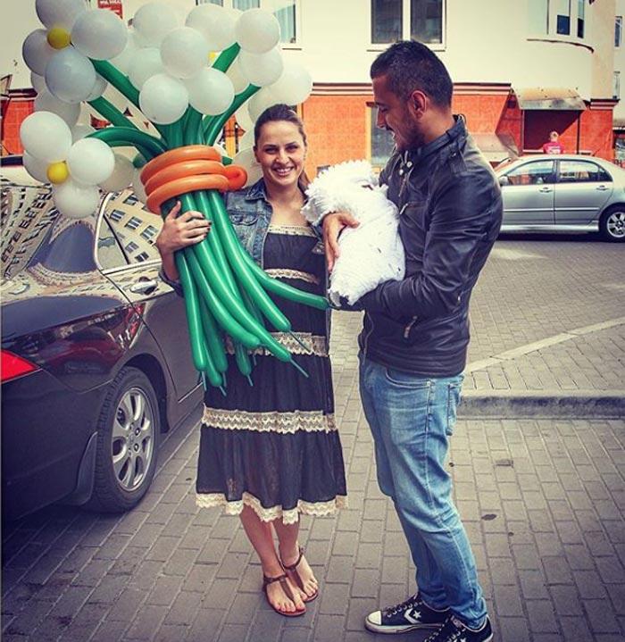 Эдуард Мацаберидзе и жена Юлия Иващук
