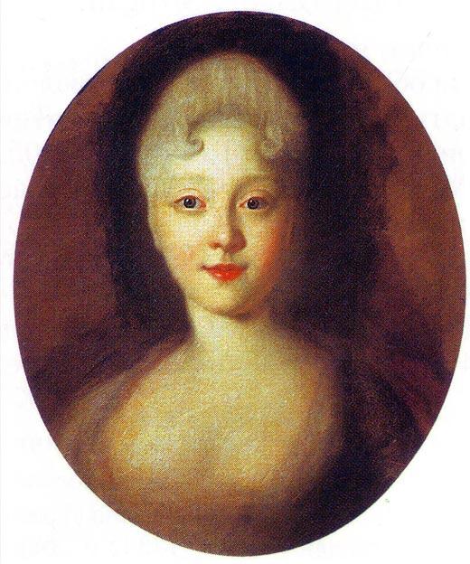 Елизавета Петровна в юности