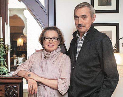Евгений Киндинов и жена Галина