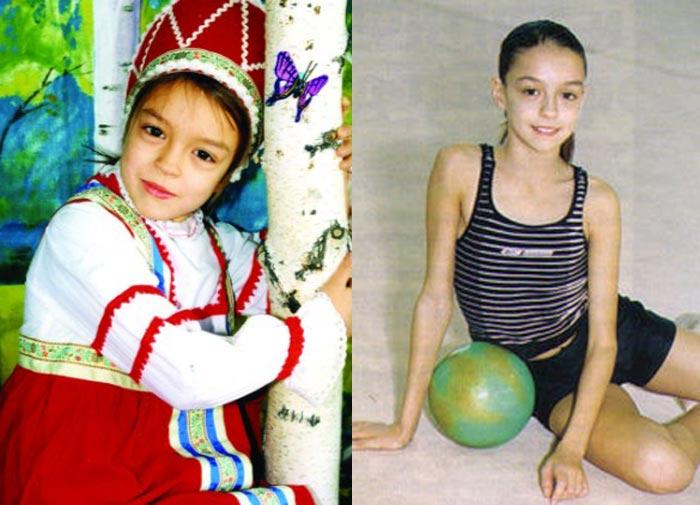 Евгения Канаева в детстве