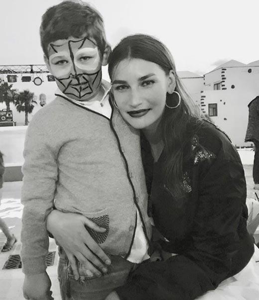 Евгения Володина и сын