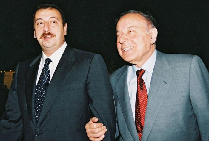 Гейдар Алиев и сын Ильхам Алиев