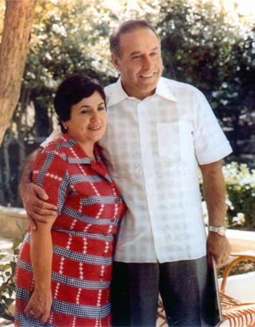Гейдар Алиев и жена Зарифа