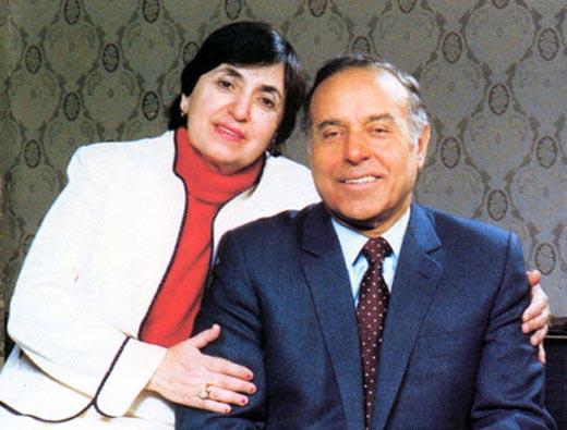 Гейдар Алиев и жена Зарифа 2